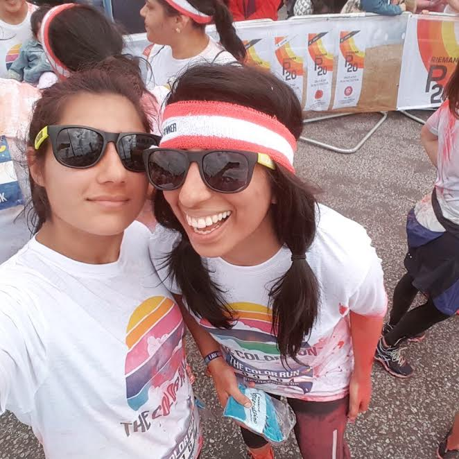 Color run, red zone