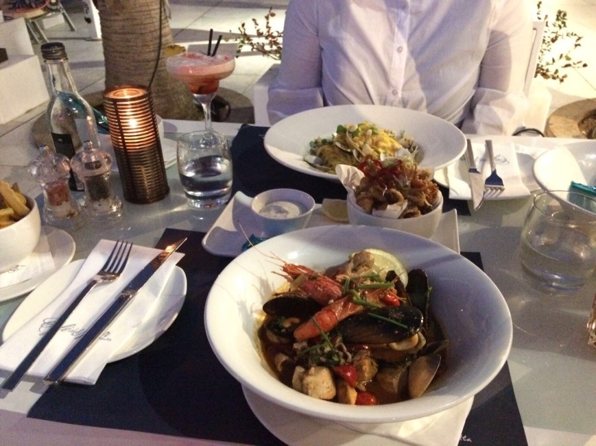 Seafood at Cafe del Mar