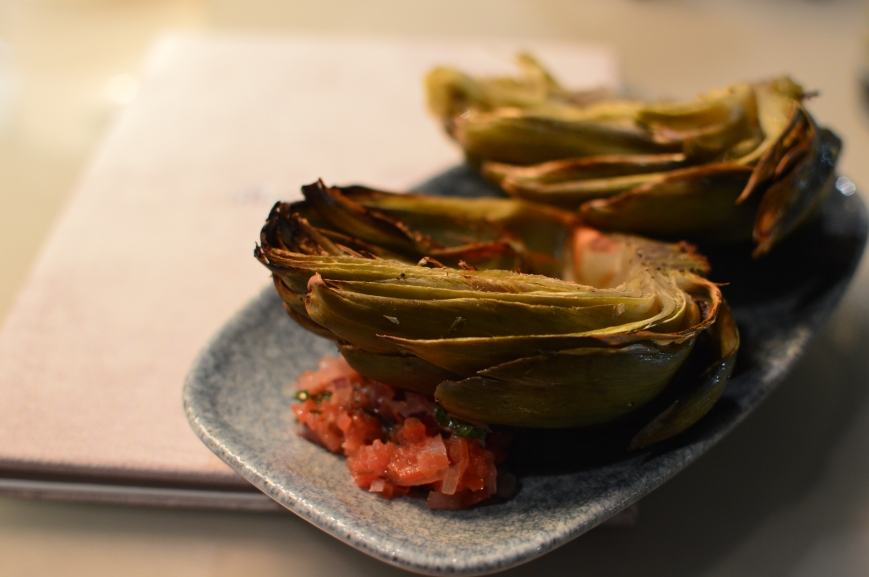 Grilled Scottish Artichoke