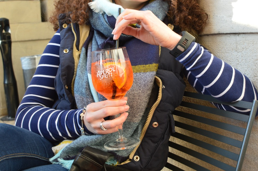 Aperol spritz at the Aperol terrace
