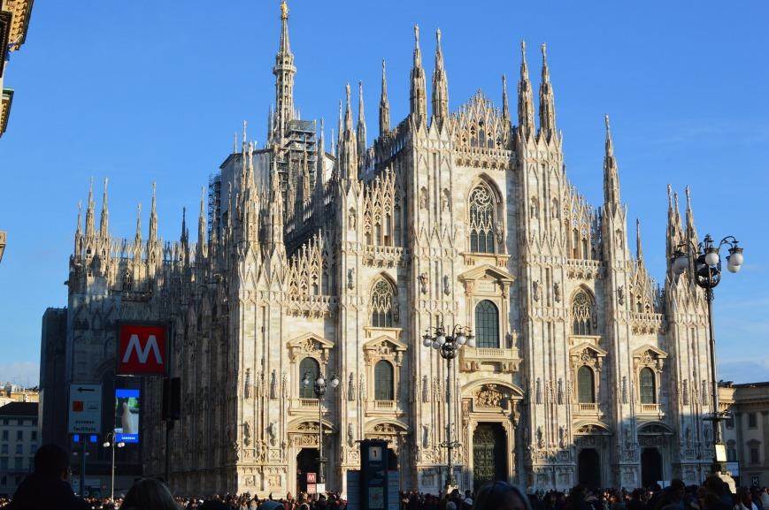 Milan Duomo, front