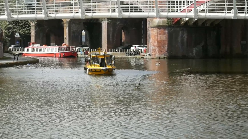Manchester Water Taxi #WAXI - arriving