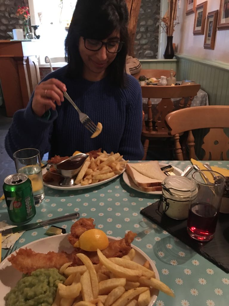 Fish and Chips at The Cottage, Blackpool